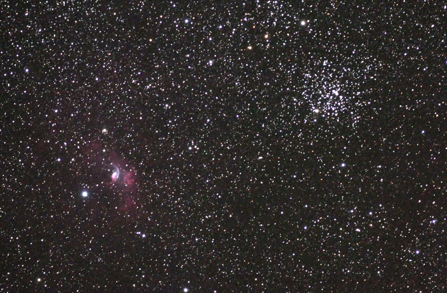 Bubble Nebula and M52